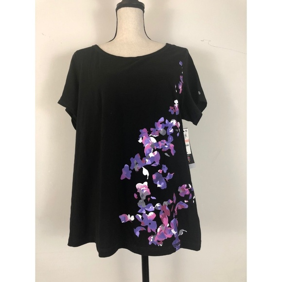 659f5f8e7bc Ideology Tops | Top Sz 2x Floral Short Sleeve Cotton New | Poshmark